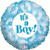 18 inch Helium Filled Foil Balloon > It's a Boy