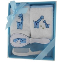 Gift 4 Piece Brush and Combe Set, Colour - Blue